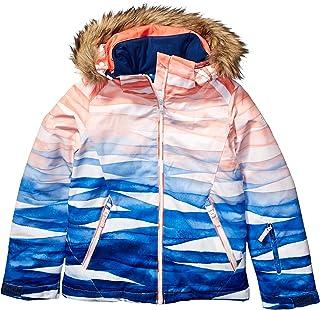 Roxy Snow Girls' Big American Pie Special Edition Jacket, mid Denim YUMI Yamada Print, 14/XL