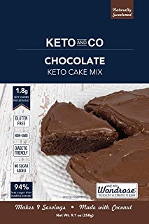 Chocolate Keto Cake Mix by Keto and Co | Just 1.8g Net Carbs Per Serving | Gluten Free, Low Carb, No Added Sugar, Naturally Sweetened | (Chocolate Cake)