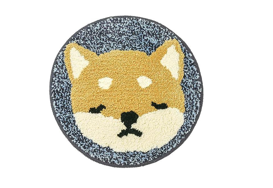 ライフルクリーナー自動りぶはあと チェアパッド ねむねむアニマルズ 柴犬のコタロウ Φ35cm 58847-44