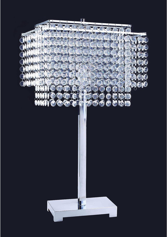 ORE International 732 28-Inch Crystal Strings Table Lamp