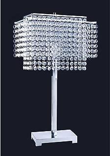 ORE International 732 28-Inch Crystal Strings Table Lamp, 28