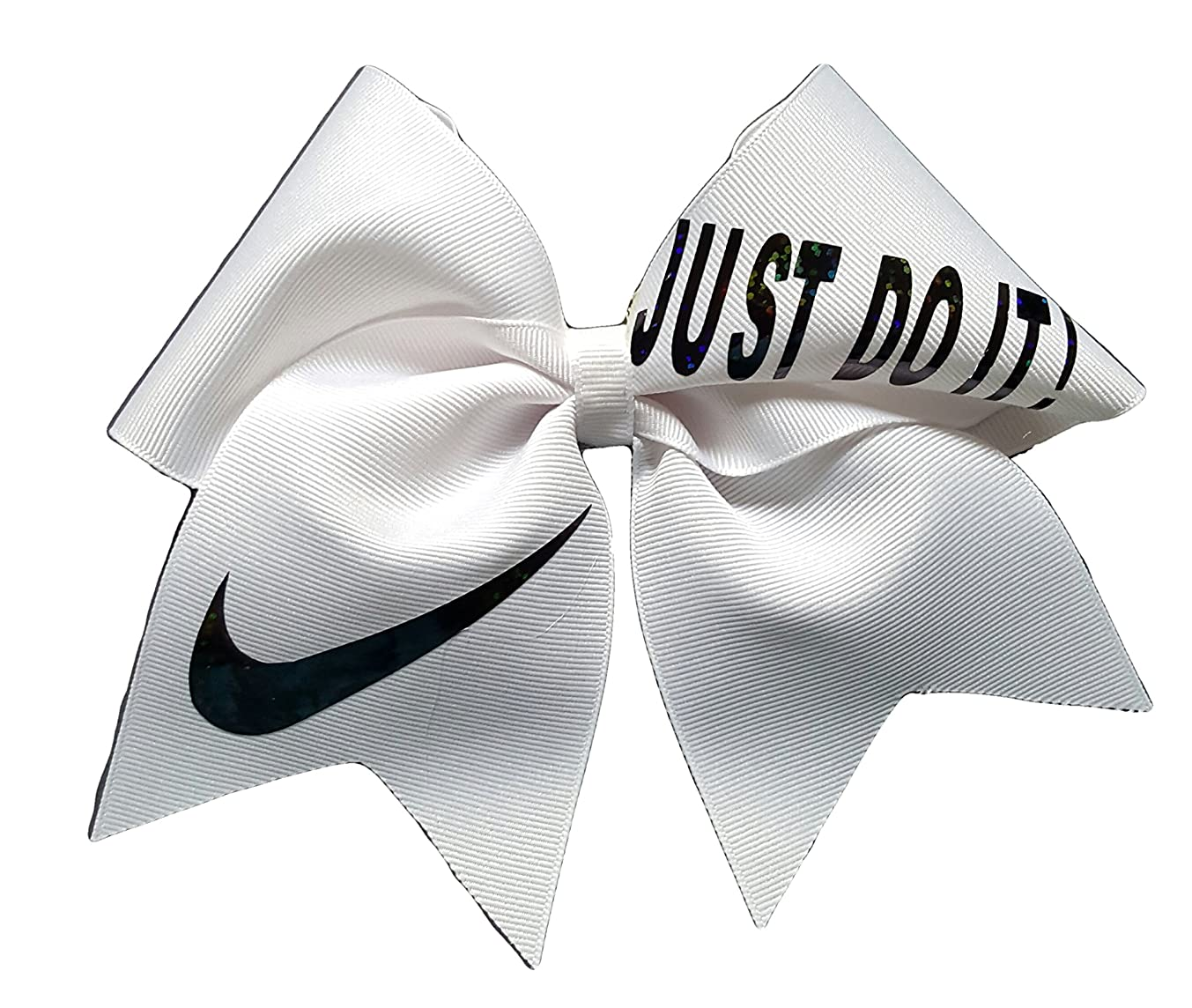 Cheer Bows White Just Do It Hair Bow