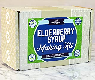 DIY Elderberry Syrup Kit | Make Your Own Elderberry Syrup for Personal Use Or for Gifts | Kit Includes Organic Dried Elderberries | All You Need to Make Organic Elderberry Syrup & Elderberry Gummies