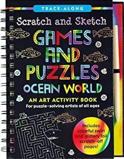 Scratch & Sketch Games & Puzzles: Ocean World (Trace Along)