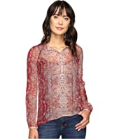 Lucky Brand - Sheer Print Blouse