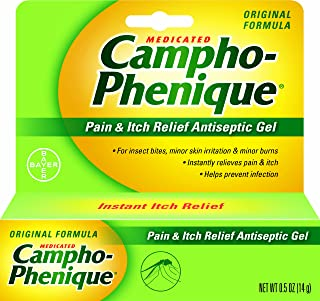 Campho-Phenique Pain & Itch Relief Antiseptic Gel 0.5 oz (Pack of 2)