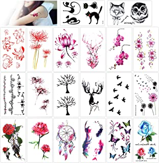 Konsait Blume temporär Tätowierung schwarz Tattoo Körperk