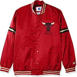 Starter Adult Men Legecy Retro Satin Jacket, Red, Small