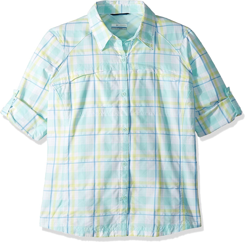 Columbia Damen Hoodie Silber Ridge Long Sleeve Shirt