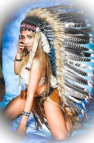 Federhaube Truthahn Indianer, Karneval, Fotoshooting, Federhaube Dekoration Kopfschmuck coiffe indienne Real Feather war bonnet Headdress War bonnet Real Feathers Indian Headdress Fotoshootings 2018 Little Big Horn