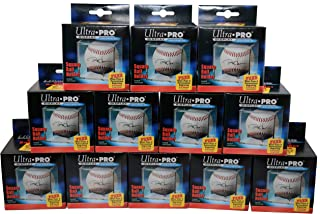 Display Series 12 Ultra Pro Square BASEBALL DISPLAY Holder w/Stand New Lot Set [12 Baseball Cubes]