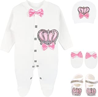 b5a1faaacdb5 Lilax Baby Girl Newborn Jewels Layette 4 Piece Gift Set 0-3 Months