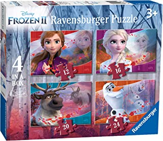 Ravensburger 3019 Disney Frozen 2, 4 in Box (12, 16, 20, 24 Piece) Jigsaw Puzzles for Kids Age 3 Years and up,