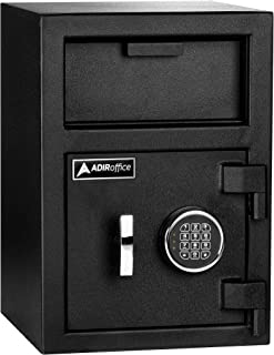 AdirOffice Keypad Lock Drop Box Safe - Industrial Strength Security Storage with Digital Lock - Safety for Home & Business Use (Medium)