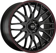 Maxxim Maze Gloss Black with Red Stripe Wheel (16x7-Inch)