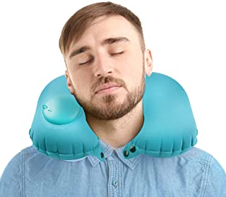 GoTraveling Co. Ltd Travel Pillow Neck Support Pillow, Inflatable and Portable - Best for Airplane, Auto, Bus, Train, Offi...