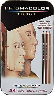 Prismacolor Premier彩色铅笔,Sanford 25085R,肖像套装,软芯,24支