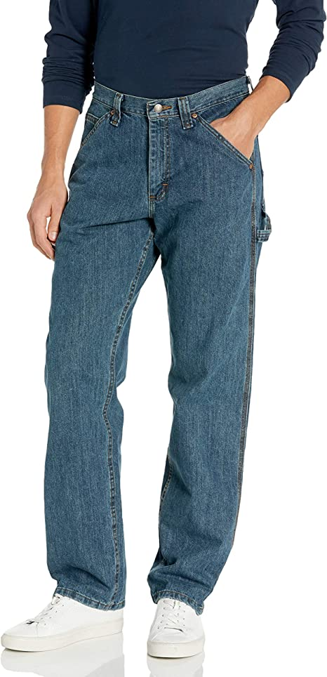 Levi/'s Carpenter Pants 48 X 32 side Pockets Blue jeans  Zippered Fly