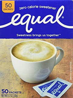 EQUAL Original 0 Calorie Sweetener Sachets, 50 Counts, FFAD677