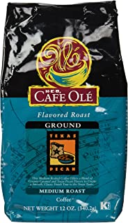 Cafe Ole Flavored Roast Texas Pecan Ground Coffee 12 Oz. (Pack of 3)
