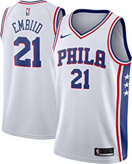 2b20931af NIKE Joel Embiid Philadelphia 76ers Association Edition White Swingman  Jersey - Men's Medium