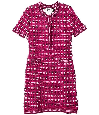 Milly Minis Tweed Fitted Dress (Big Kids) (Magenta Multi) Girl