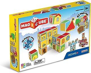 Geomag 78 pcs Magicube, Castles & Homes, Juego de Cubos magnéticos, Multicolor (144)