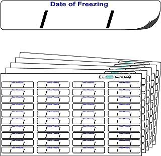 "640x ""Date of freezing"" FREEZER GRADE Self Adhesive"