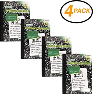 Emraw Primary Journal Black Marble Composition Book College Ruled Paper Office Dairy Note Books 100 Sheet Journals Meeting Notebook Hard cover Pack Of 4 Writing Book For school
