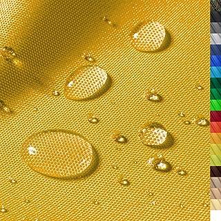 1buy3 Monaco Wasserdichter Polyester Stoff | 12.000 mm Wassersäule | Farbe 07 | Gelb | Polyester Stoff 160cm breit