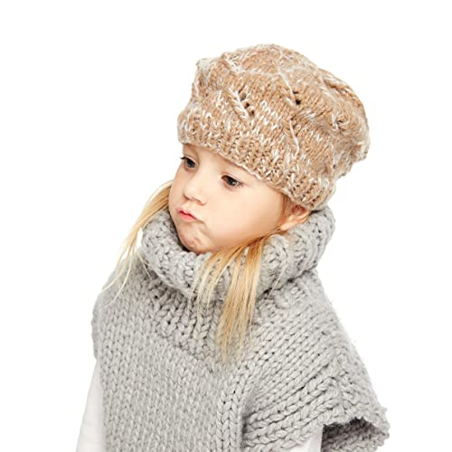 Sumolux Winter Kids Warm Cat Animal Hats Knitted Coif Hood Scarf Beanies  for Autumn Winter 79668674b729