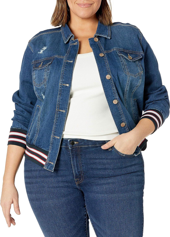 dollhouse Women's Size Dark Plus Denim Jacket