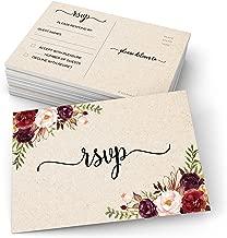 321Done RSVP Postcards (Set of 50) Red Roses Floral 4