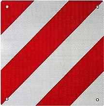 WilTec Señal Advertencia Reflectante España Aluminio Rojo