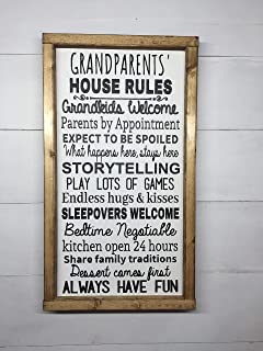 GRANDPARENT GIFT | GRANDPARENTS' HOUSE RULES | GRANDMA AND GRANDPA GIFT | GRANDPARENTS HOUSE RULES | GRANDPARENT SIGN