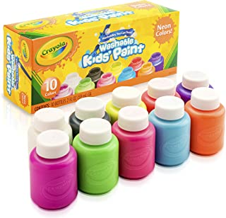 Crayola, Washable Neon Paint, Art Tools, 10 Bright Colours, Children Art & Craft, projects, artist, students, creativity
