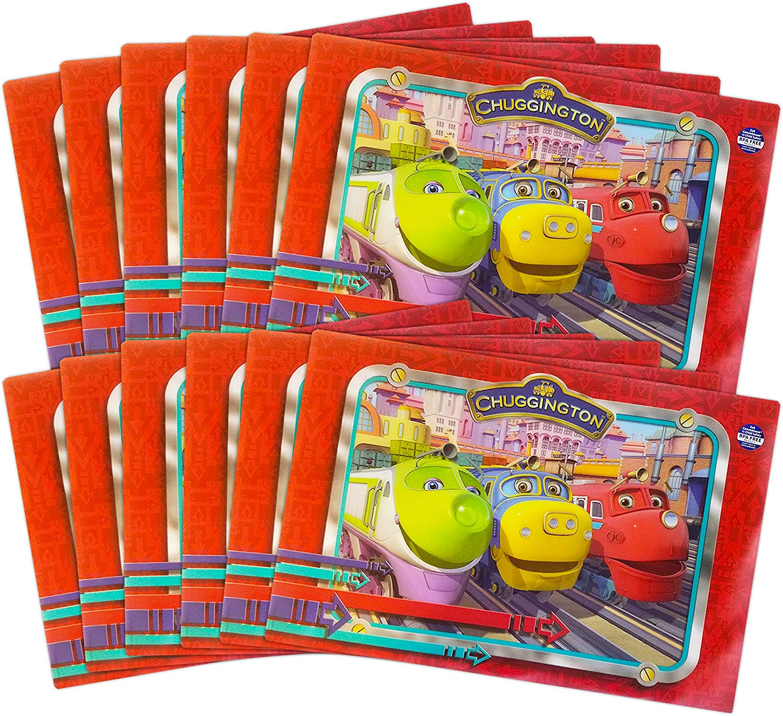 Chuggington Placemats 12 Pack ~ Chuggington Party Supplies, Birthday Party Supplies, Dinnerware   Chuggington Home Decor (Train Placemats for Kids)