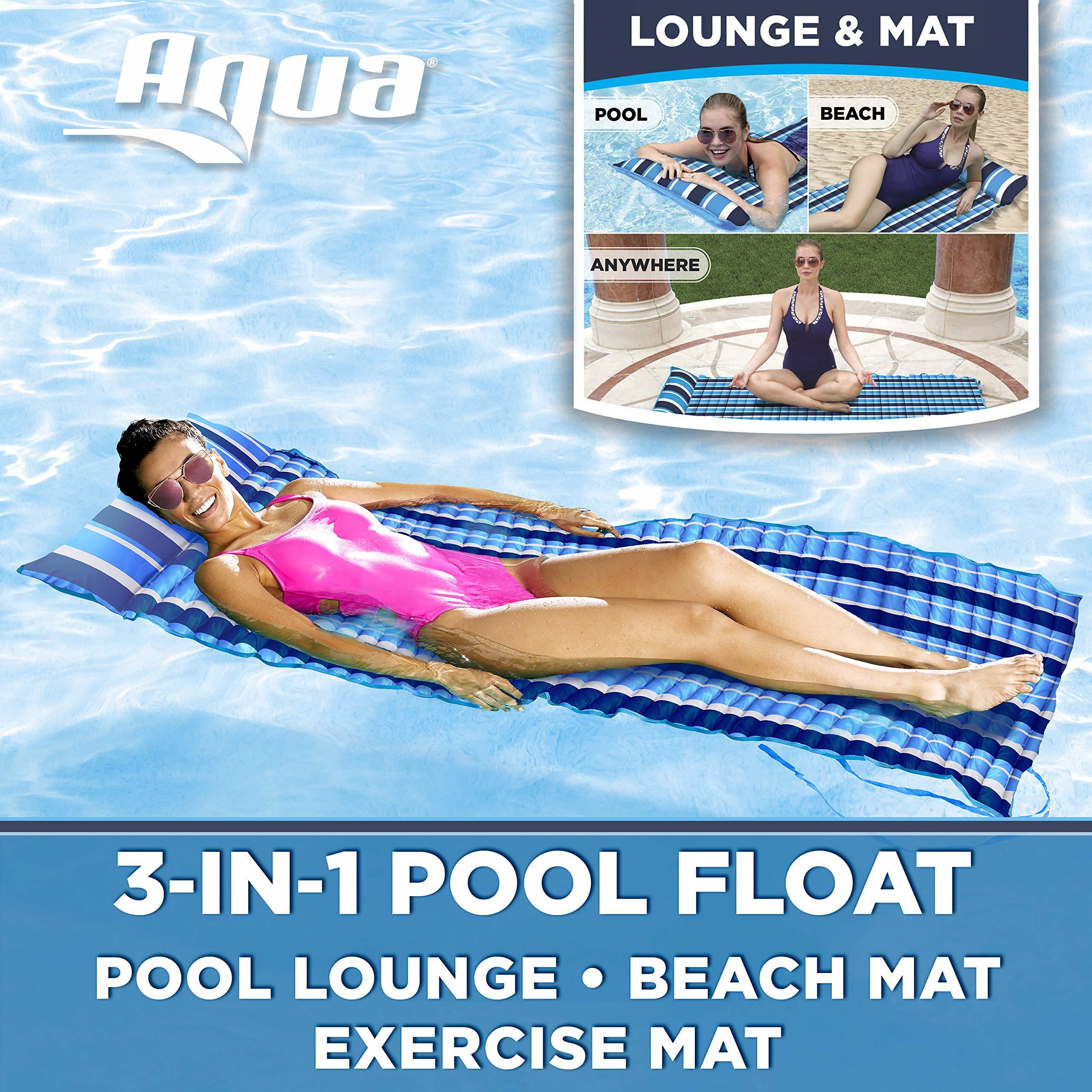 Aqua Lounge Float White Stripe