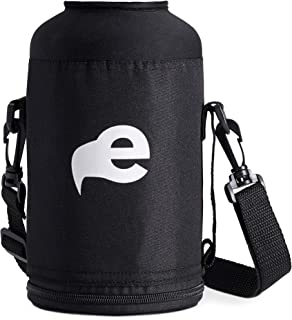 eegl 64 oz Water Bottle Carry Case - Fits Hydroflask Growlers and Other Brands (Bottle Not Included) Nylon Sleeve with Shoulder Strap