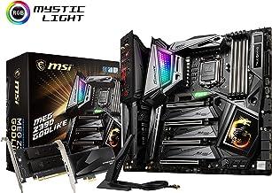 MSI MEG Z390 GODLIKE LGA1151 (Intel 8th and 9th Gen) M.2 USB 3.1 Gen 2 DDR4 Wi-Fi SLI CFX Extended ATX Z390 Gaming Motherb...