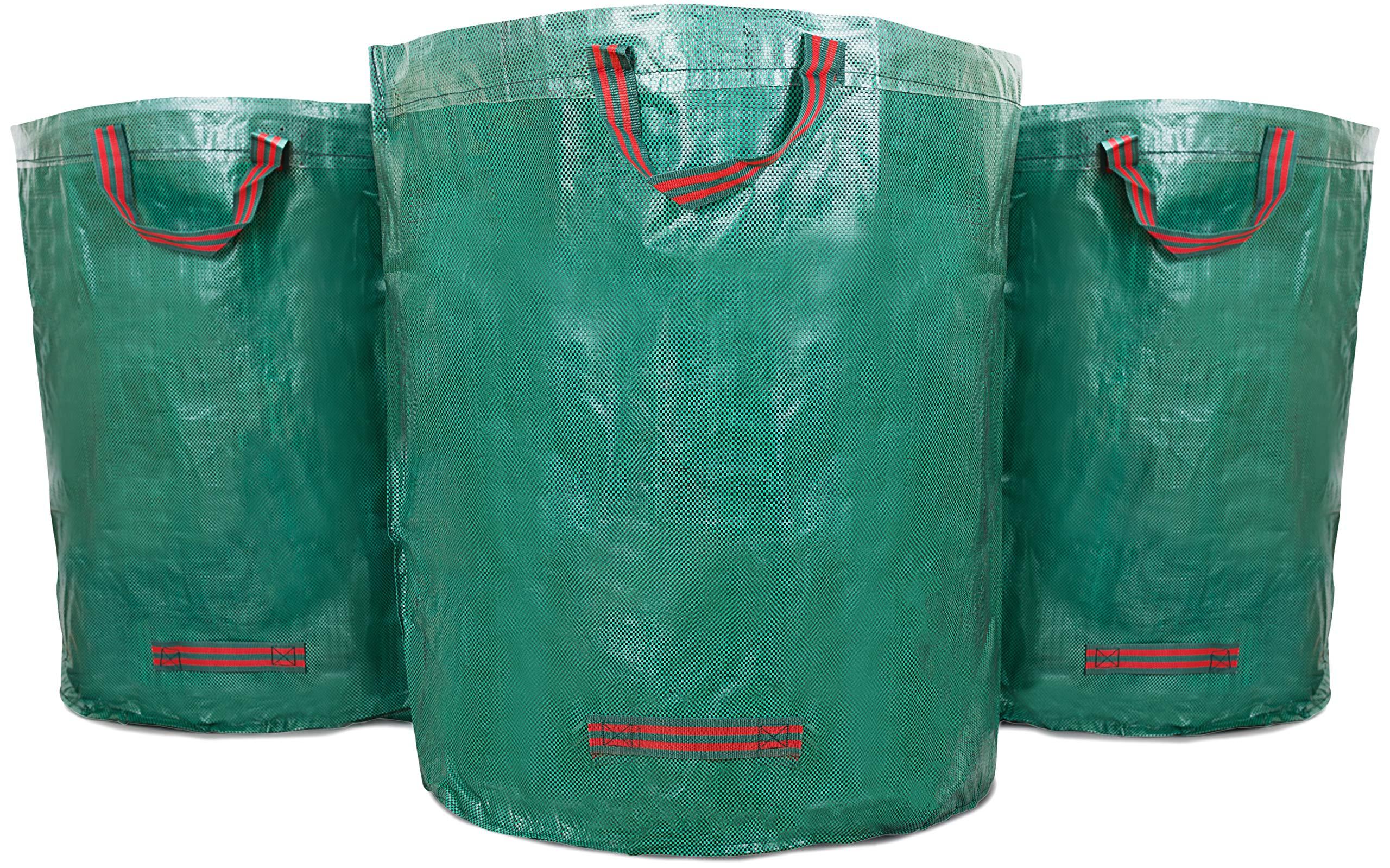 WUNDERGARDEN Set de 3 Bolsas de Basura de jardín de 272 L | para residuos de jardín, Hojas secas, restos de poda, residuos de Plantas, Compost | Redondas, estables y Plegables: Amazon.es: Jardín