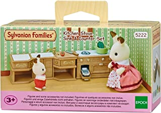 Sylvanian Families Kitchen Stove, Sink and Counter Set,Furniture