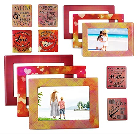 Love You Mom Magnets Mom Gifts for Mom and Grandma Presents for Mom Mother Gift Moms Make Life Beautiful 4 Piece Set Mom Kitchen Towel Set with Matching Fridge Magnets