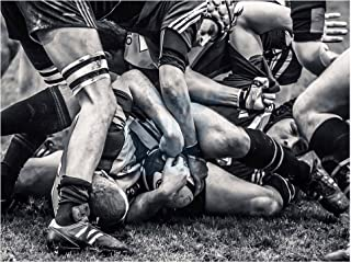 Wee Blue Coo Photo Sport Rugby Football Close Up Scrum Players Ball Game Canvas Print