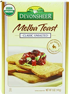 Devonsheer Melba Toast, Classic Unsalted, 5 Ounce (Pack of 12)