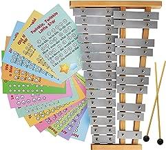 Glockenspiel 25 Note - Chromatic Metal Xylophone - Sheet Music Cards