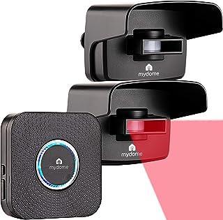 Mydome Wireless Driveway Alarm Sensor & Garden Sensor alarm | Home Security Plugin Chime Kit, Designed for UK Homes and th...