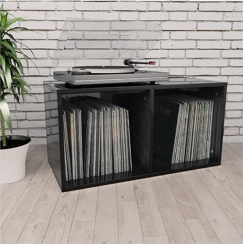 Medium Luxury Storage Cabinet Rack Vinyl Gloss High Box A surprise price is realized Blac