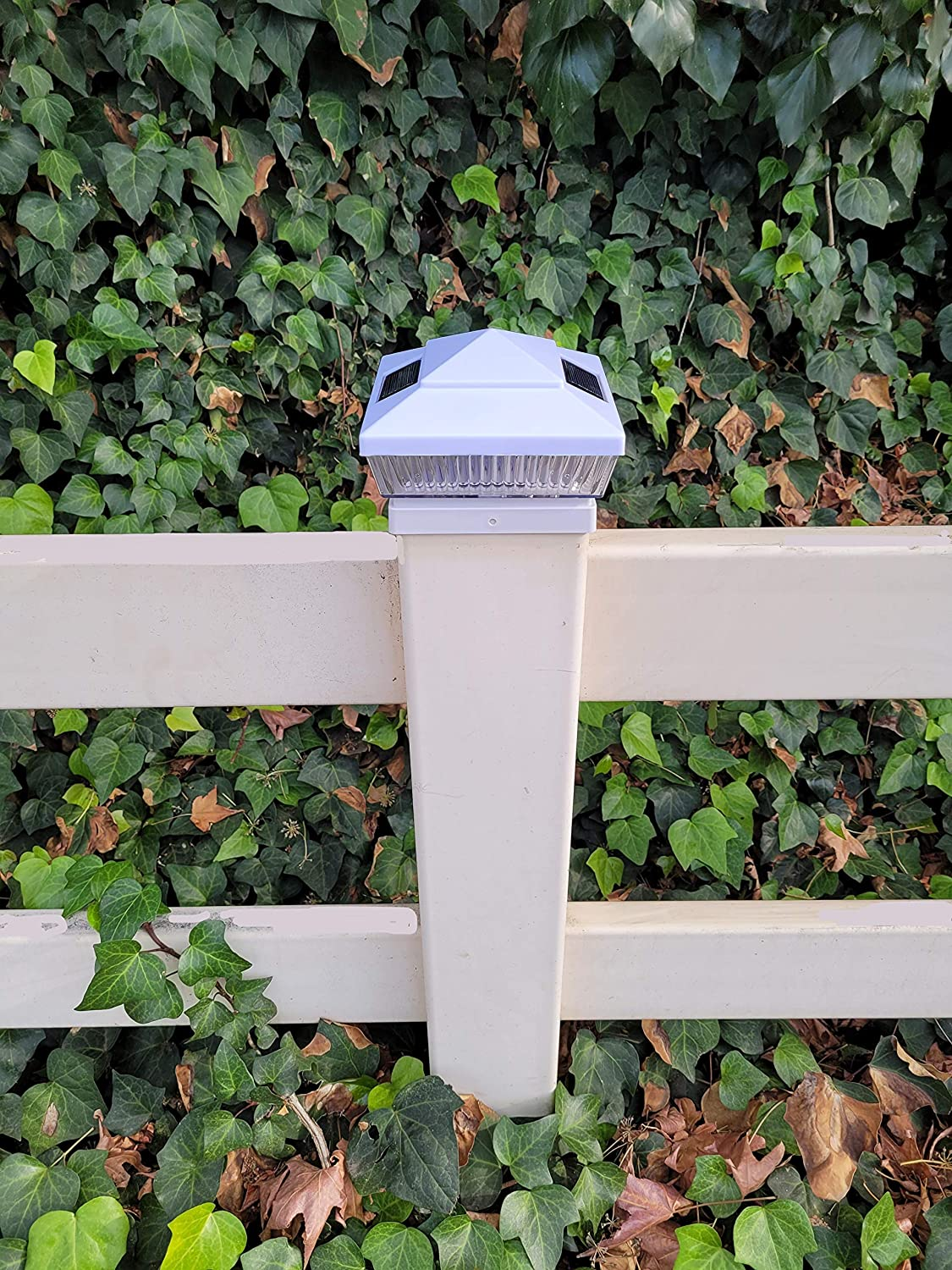Solar Post Cap Lights 2pk 5x5in Bright for Woo New Orleans Mall LED White Outdoor Trust