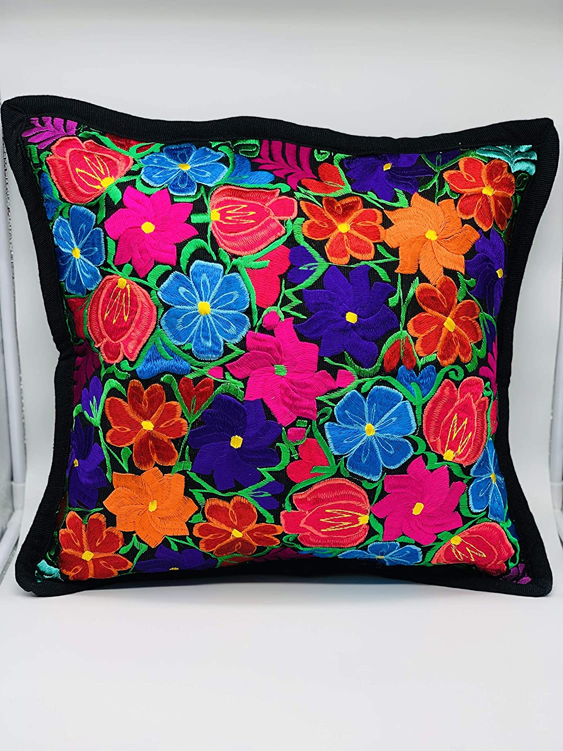 Mexican Handmade Pillow Cover Flower c Authentic Max 54% OFF cover Beautiful Classic
